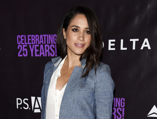 Meghan Markle in Veronica Beard Boca combo romper and blazer at the P.S. Arts' The Party in Hollywood on May 20, 2016.