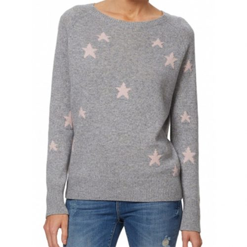 360 Cashmere Stella Allover Star Cashmere Sweater as worn by Meghan Markle