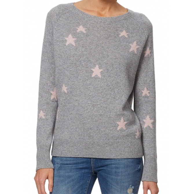 dfce11fabe 360 Cashmere Stella Allover Star Cashmere Sweater as worn by Meghan Markle
