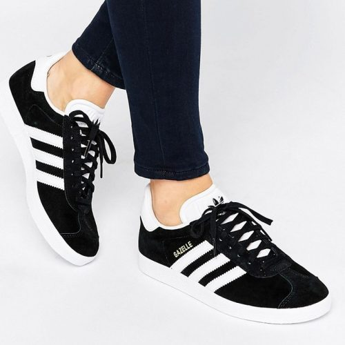 Adidas adidas Originals Unisex Black Suede Gazelle Sneakers as seen on Meghan Markle
