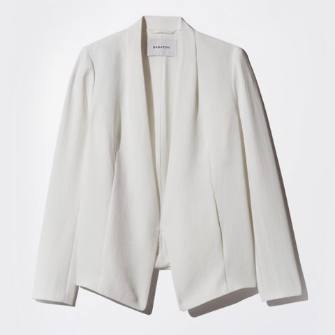 Babaton Keith Jacket in White as seen on Meghan Markle