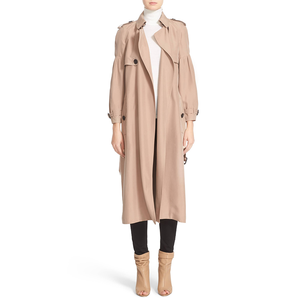 3a85f070f1b2 Burberry Maythorne Mulberry Silk Trench Coat as seen worn by Meghan Markle    Duchess of Sussex