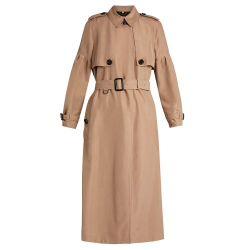 Burberry Maythorne Mulberry-silk Trench Coat as seen on Meghan Markle
