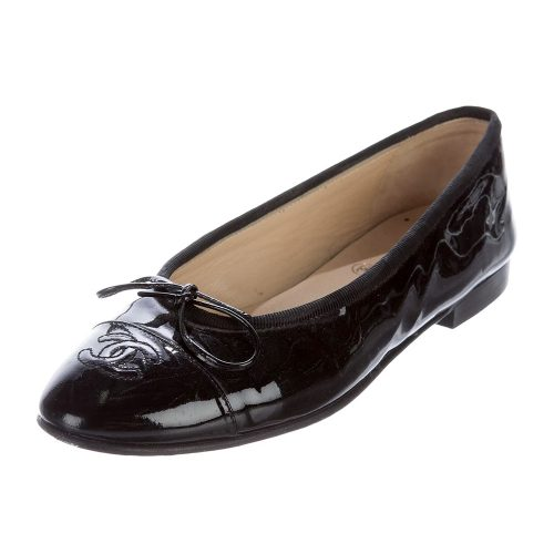 Chanel CC Cap-toe Flats as worn by Meghan Markle