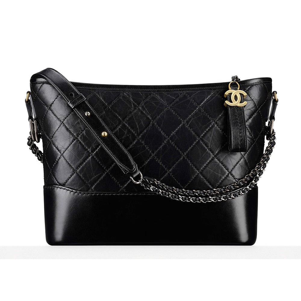 be4e4093775ed3 Chanel Gabrielle Hobo Bag in Black as worn by Meghan Markle