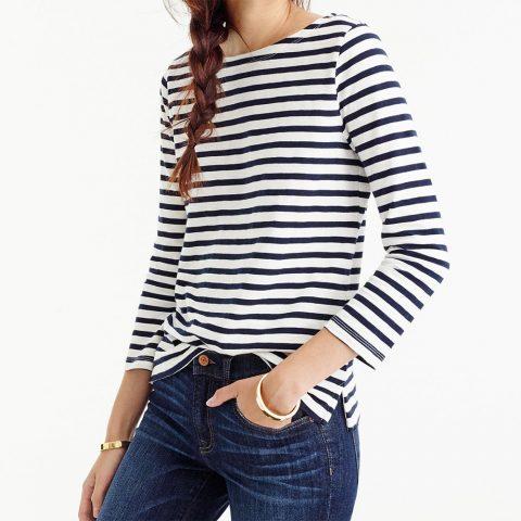 J.Crew Striped Boatneck T-Shirt as seen on Meghan Markle