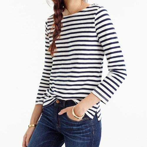 J.Crew Striped Boatneck T-Shirt as seen on Meghan Markle