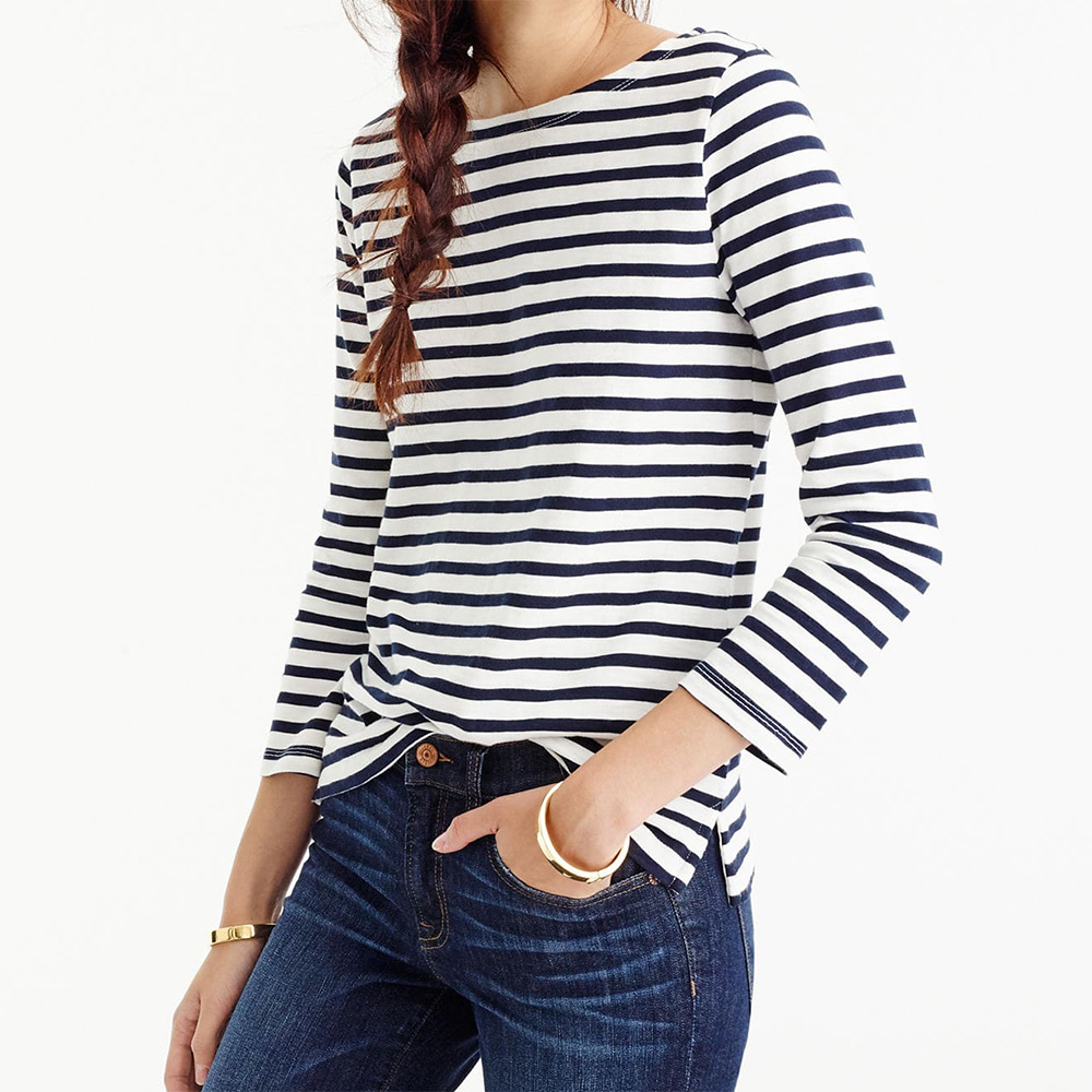 d193a6c109 J.Crew Striped Boatneck T-Shirt as seen on Meghan Markle