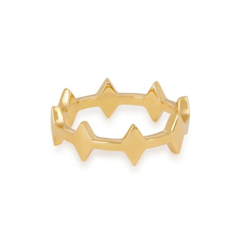 Missoma Gold Nexus Double Arrow Ring as seen on Meghan Markle