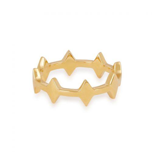 Missoma Gold Nexus Double Arrow Ring as seen on Meghan Markle