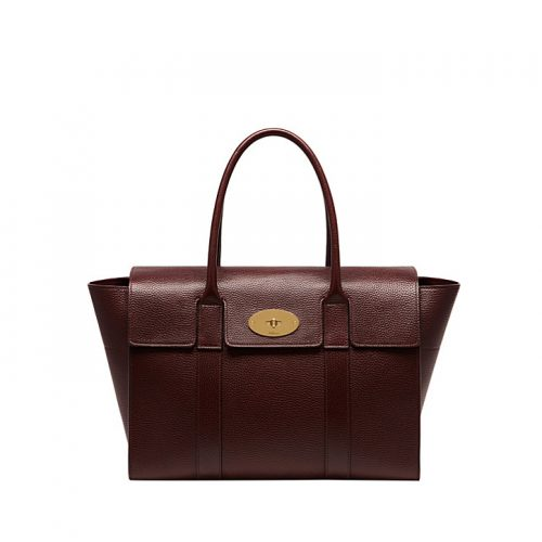 Mulberry Bayswater new leather tote in Oxblood as seen on Meghan Markle