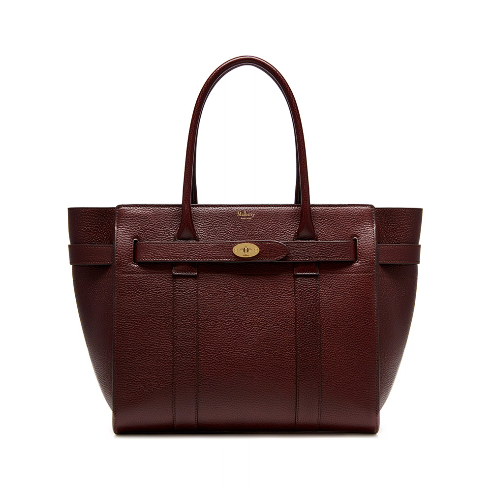 Mulberry Zipped Bayswater Bag in Oxblood Natural Grain Leather as worn by Meghan Markle / Duchess of Sussex