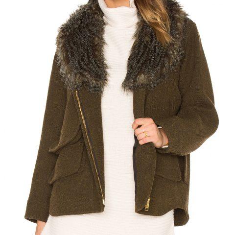 Smythe Detachable Faux Fur Collar Flak Jacket as seen on Meghan Markle