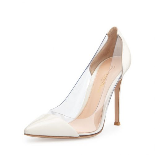 Gianvito Rossi Plexi Patent PVC Illusion Pumps as seen on Meghan Markle