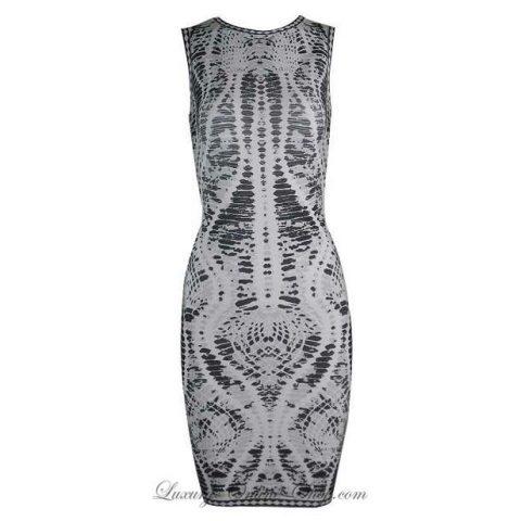 Herve Leger snake print bandage dress as seen on Meghan Markle
