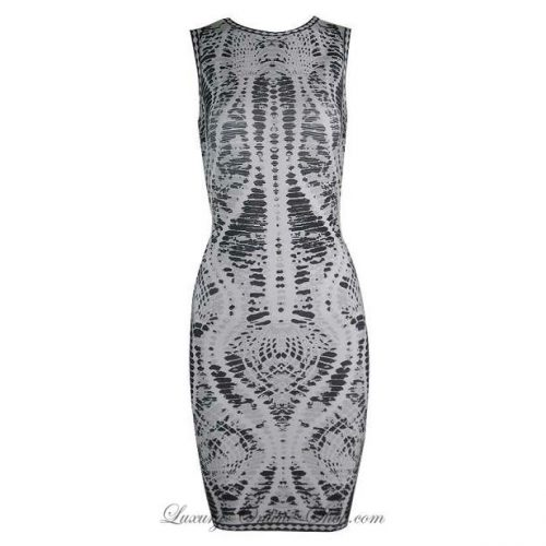 Herve Leger snake print bandage dress as seen on Meghan Markle