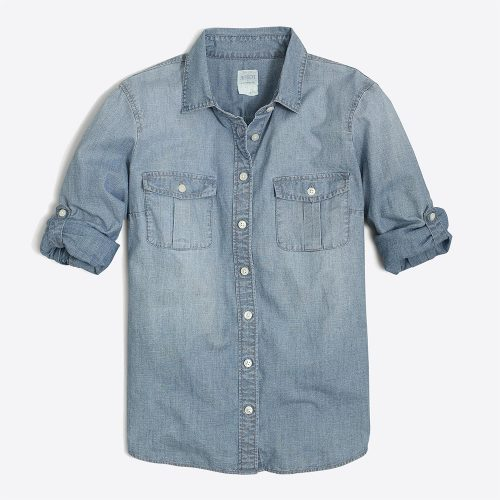 J. Crew Classic chambray shirt in perfect fit as worn by Meghan Markle
