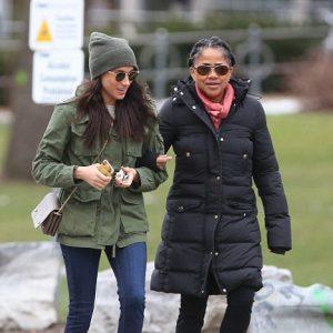 Meghan Markle and mum Doria heading to Fresh restaurant in Toronto on December 27, 2016.