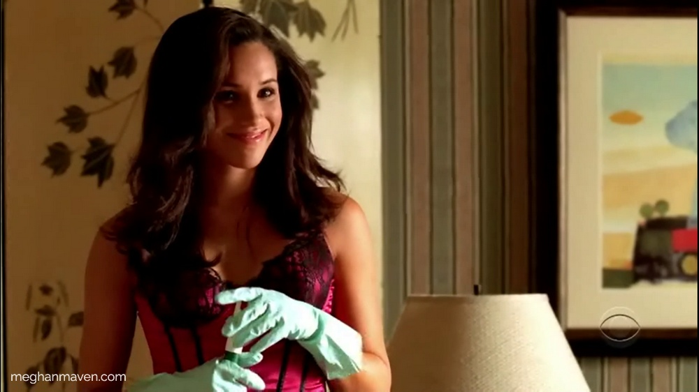 Did she do it? Blonde Meghan Markle plays sexy maid and murder suspect on CSI: NY in 2006