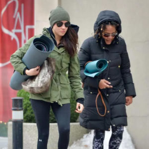 Meghan and her mum Doria Radlan heading to a yoga class in Toronto, Canada, on December 27, 2016.