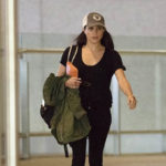 Meghan making her way through India's Mumbai airport in January 2017.