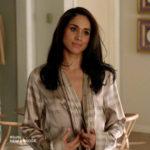 Meghan Markle as Rachel Zane in Burberry Check Robe on Suits season 3