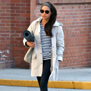 Meghan Markle heads to a yoga class in Toronto in April 2017.