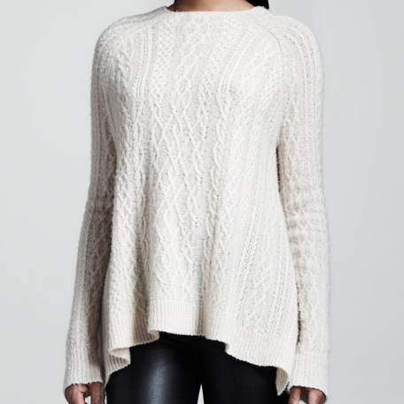 The Row Cable-Knit Swing Sweater seen on Meghan Markle as Rachel Zane on Suits Season 3