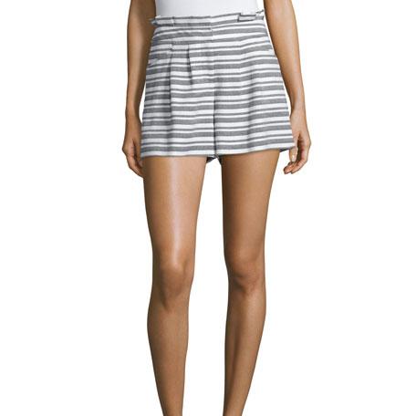 Veronica Beard 'Wynwood' Striped High Waist Shorts as worn by Meghan Markle