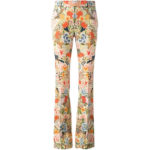 Alexander McQueen Flared Floral Trousers as seen on Meghan Markle