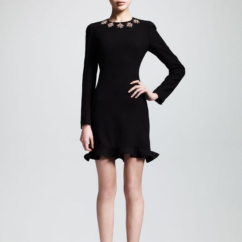 Alexander McQueen Glory Embellished Flounce Dress as worn by Meghan Markle