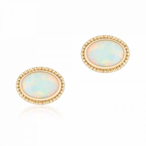 Birks Yellow Gold and Opal Earrings as seen on Meghan Markle