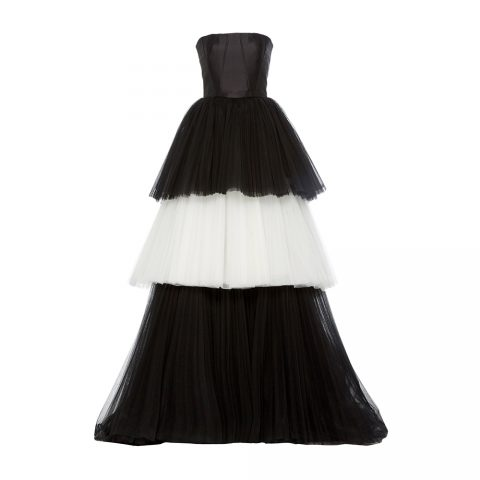 Carolina Herrera Mikado Bustier Tulle Ball Gown as seen on Meghan Markle
