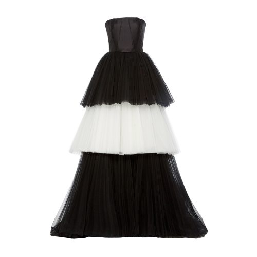 Carolina Herrera Mikado Bustier Tulle Ball Gown as seen on Meghan Markle