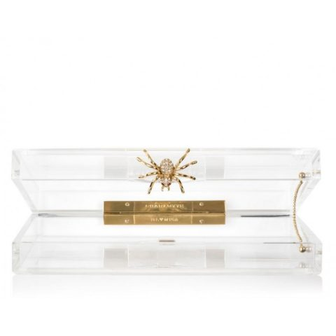 Charlotte Olympia Pandora Clutch with Spider Clasp as worn by Meghan Markle