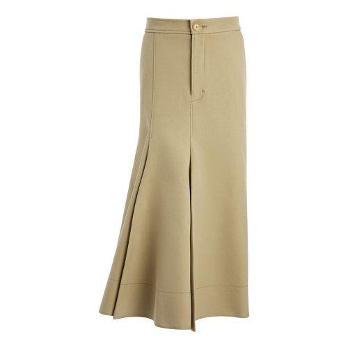 Joseph Laurel Frayed Cotton Silk Skirt as seen on Meghan Markle