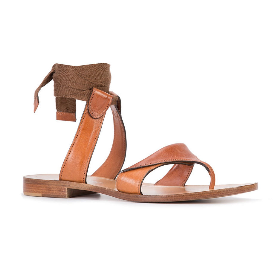 buy cheap clearance Sarah Flint Leather Thong Sandals best store to get sale online free shipping for sale WOtWjYMNnp