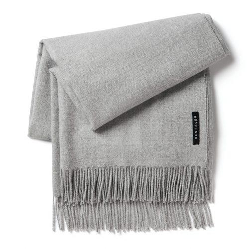 Sentaler New Royal Baby Alpaca Classic Wrap Scarf in Sand Grey as worn by Meghan Markle