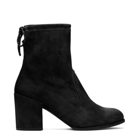Stuart Weitzman The Shorty Bootie in Black Suede as seen on Meghan Markle