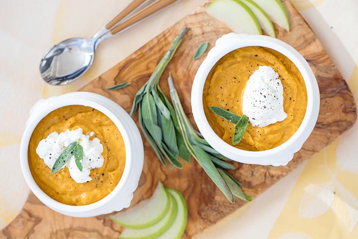 Sweet Potato & White Bean Soup - The Tig