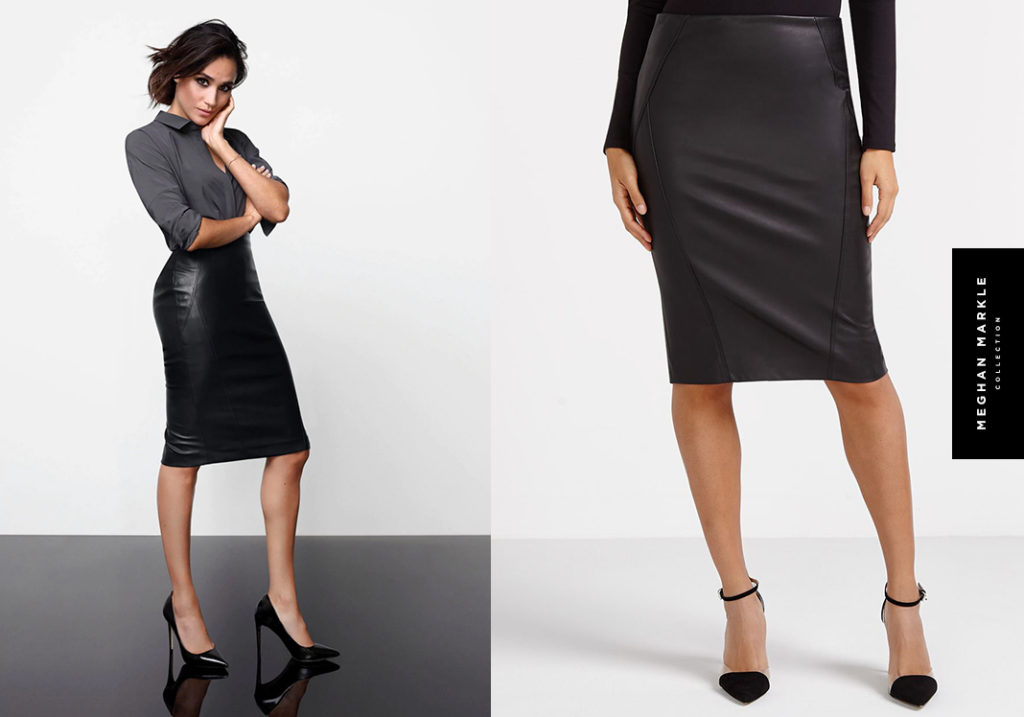 The Faux Leather Skirt by Meghan Markle for Reitmans