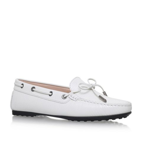 Tod's Gomma White Leather Loafer as seen on Meghan Markle