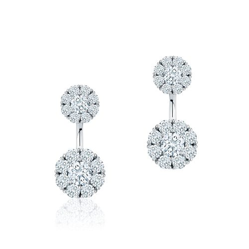 Birks Snowflake® Large Round Jacket Earrings