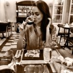 Meghan Markle enjoying wine