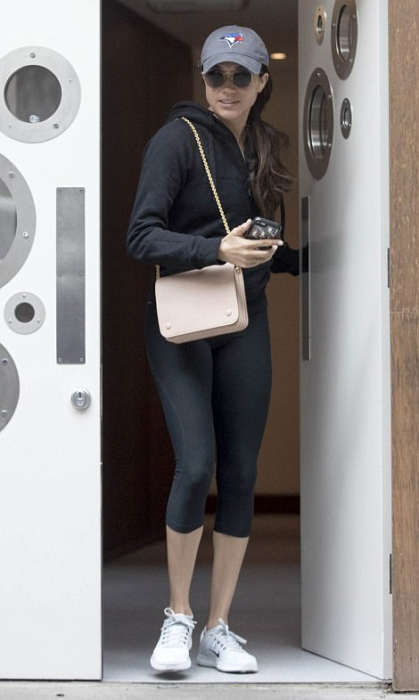 Meghan Markle leaving a spa in Soho, London, on May 19, 2017.