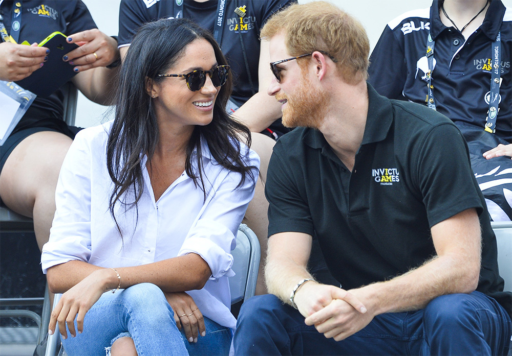Meghan Markle at the Invictus Games with Prince Harry in Toronto on September 25, 2017.