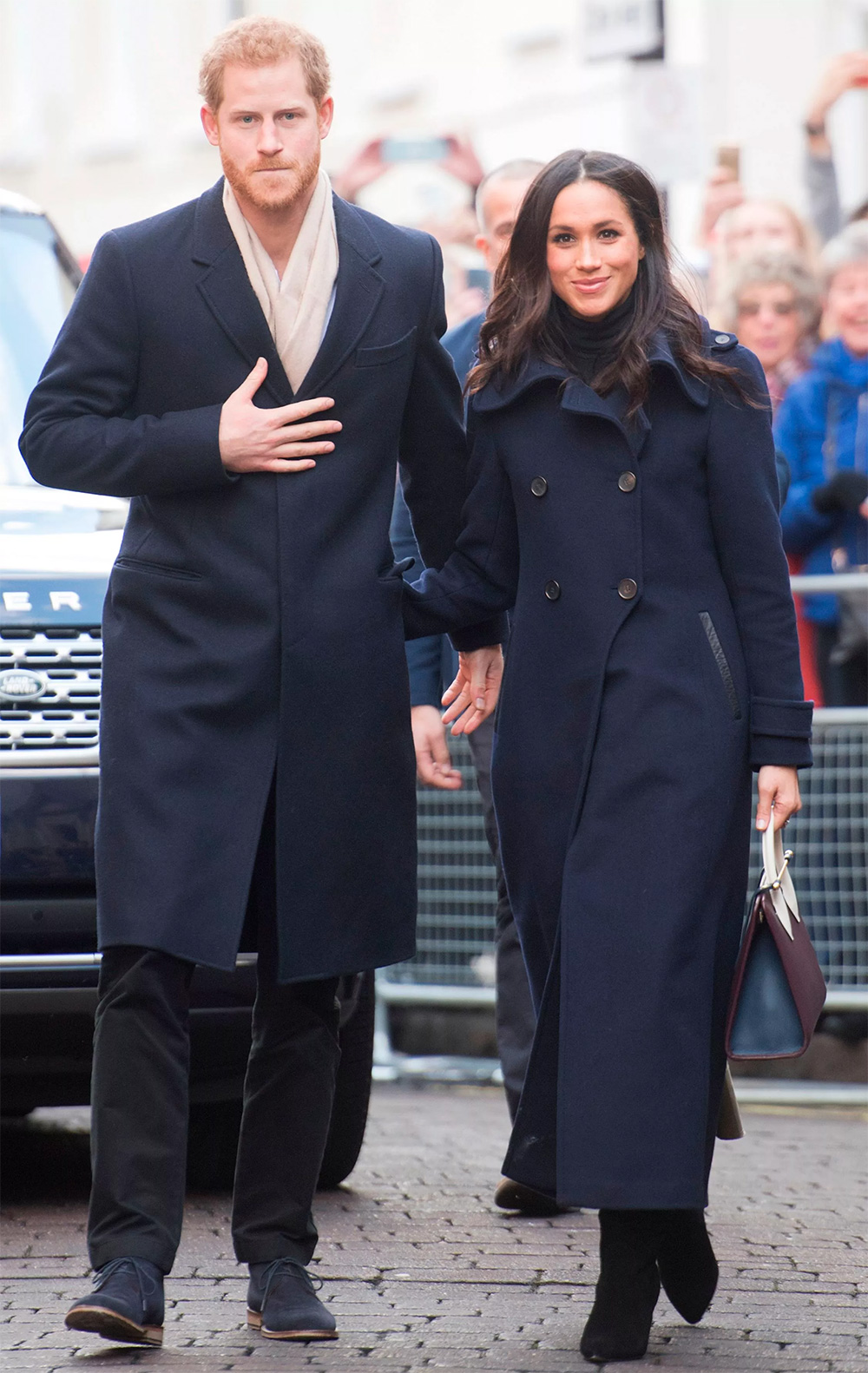 Meghan Markle during her first official royal engagement walkabout with Prince Harry for World AIDS Day in Nottingham, England, on December 1, 2017.