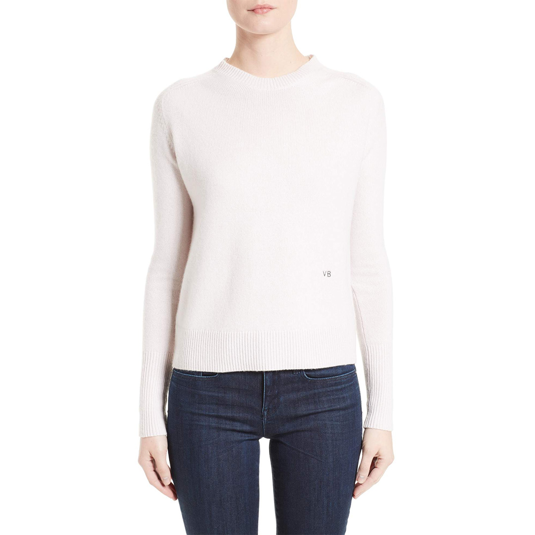 Victoria Beckham Crew Neck Cashmere Sweater | Meghan Maven
