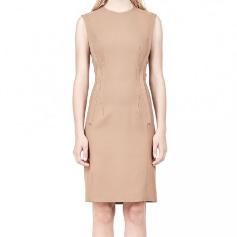 Alexander Wang Exposed Dart Sheath Dress as seen on Meghan Markle as Rachel Zane on Suits Season 4 Episode 1.