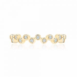 Birks Iconic® Stackable Yellow Gold and Diamond Splash Ring